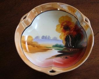 Chikaramachi Japanese Hand Painted Lusterware Bowl!