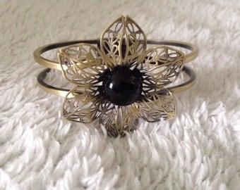 Vintage/Romantic style Flower Cuff Bracelet