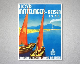 Lloyd Bremen VintageTravel Poster - Poster Print, Sticker or Canvas Print