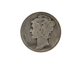 RARE 1942/1 1942/41 Overdate Mercury Dime Silver Ten Cent 10C NGC F 12 Coin