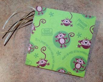 Boy/Little Monkey/Kids/Wild/Jungle 7x7  Scrapbook, handmade  photo album