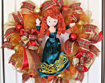Merida Wreath, Brave Merida Wreath, Character Wreath