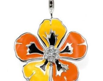 charms argent divers nature fleur jaune,Bracelet Charm,sterling silver charm,Bracelet européen,pendentif, Style Européen à breloques