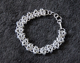 Unique chainmaille bracelet (celtic visions)