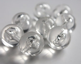crystal clear acrylic beads / large 14mm round beads / transparent beads / spacer beads. wholesale beads FREE UK P+P
