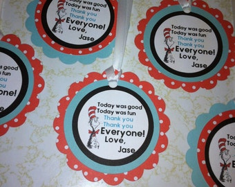 Dr. Suess favor tags