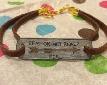 "Mockingjay ""Real or Not Real?"" Bracelet"
