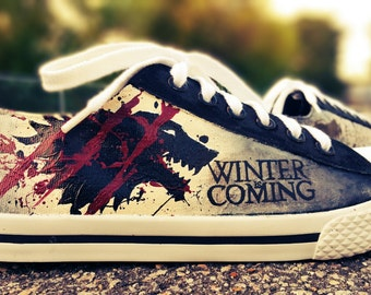 Game Of Throne Stark House Hand Painted Shoes