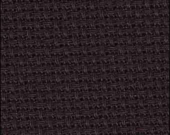 BLACK AIDA - 14 count Aida | High Quality Zweigart Cotton for Cross Stitch and Needlework Projects | 100% Cotton