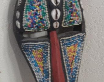 Vintage Hand Carved Afican Style Mask