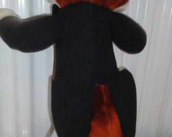 Vintage 1980's Fox Wearing Tuxedo Plush