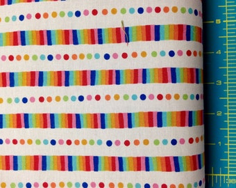 Flying Colors Rainbow Stripe Sand 33065 11  by Momo for Moda Half Yard Cut and Yardage Available