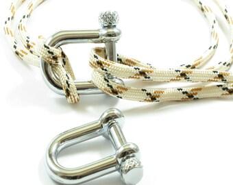 Metallic Silver U Clasp For Parachute Cord, Metal Clasp