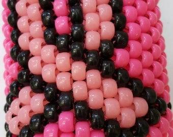 Handmade Breast Cancer Awareness Multi-Strand Beaded Bracelet