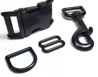 Upgrade to Black Metal Hardware on an Adjustable Collar, Leash, or Set from Marlo Ann's Boutique