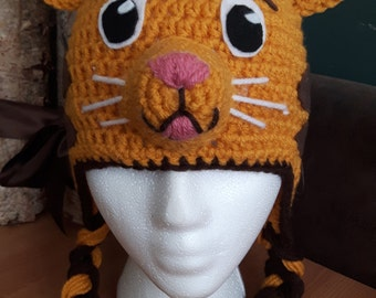 Daniel the Tiger inspired crochet hat