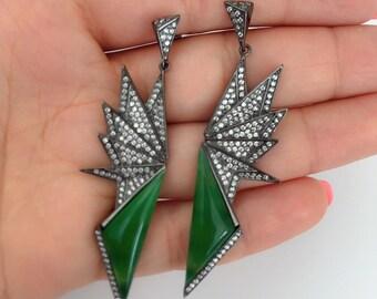 Leora sterling silver statement earings