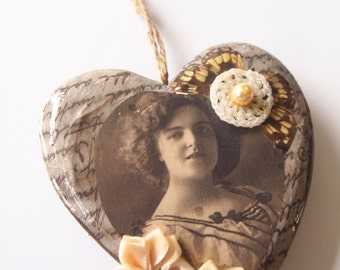 Q-Tea Shabby Chic Decorative Heart
