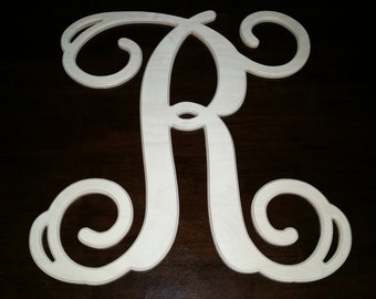 Unfinished Large Size Letter Monograms 22x24