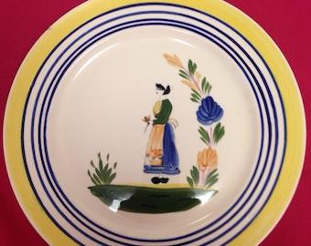 "Blue Ridge ""Lyonnaise"" Woman Figure Plate - Great Gift Idea"