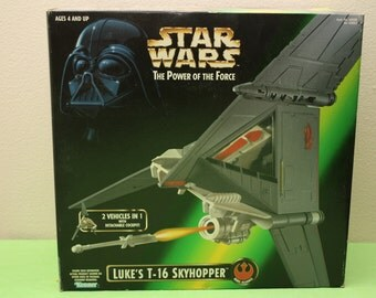 Vintage 1996 Star Wars - The Power of The Force - Luke's T-16 Skyhopper - New In Original Box!