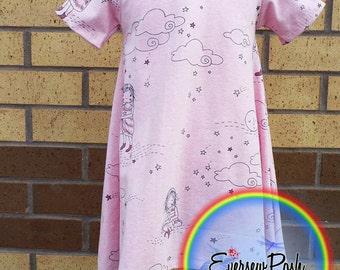 Simple Cotton Jersey T shirt Dress age 2-3