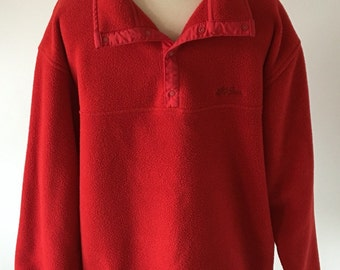 L.L. Bean Red Fleece Pullover women's size Large