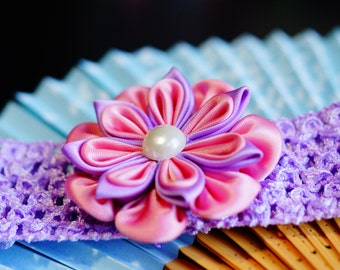 Baby/toddler headband flower kanzashi