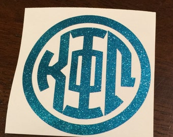 Free Shipping***Circle Greek Monogram Decal or DIY Iron On