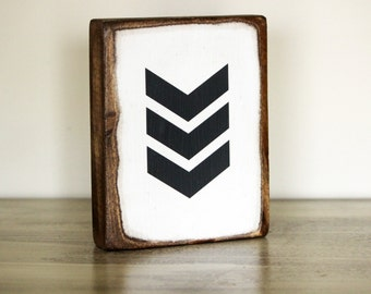 Chevron Wood Block Art