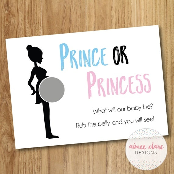 Baby Shower Boy or Girl Baby Gender Reveal Scratch Cards x 10 – Baby Gender Announcement Cards
