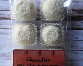 6 x White Chocolate Malibu Truffles - Treat Pack