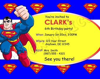Superman Birthday Invitation - Printable