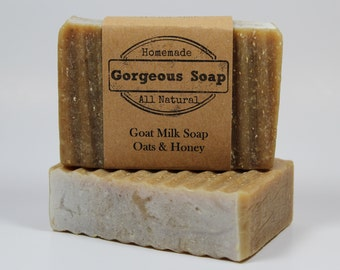 Oats & Honey Goat Milk Soap - All Natural Soap, Handmade Soap, Homemade Soap, Handcrafted Soap