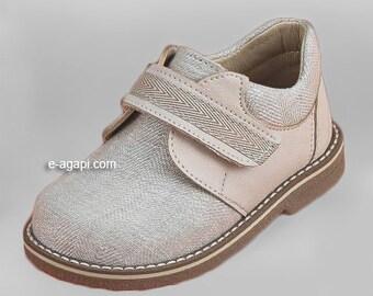 Baby boy shoes ecru blue baby shoes leather kids shoes wedding shoes loafers shoes baby boy baptism shoes size 4 5 6 7 8 9 US EU 16353A3005