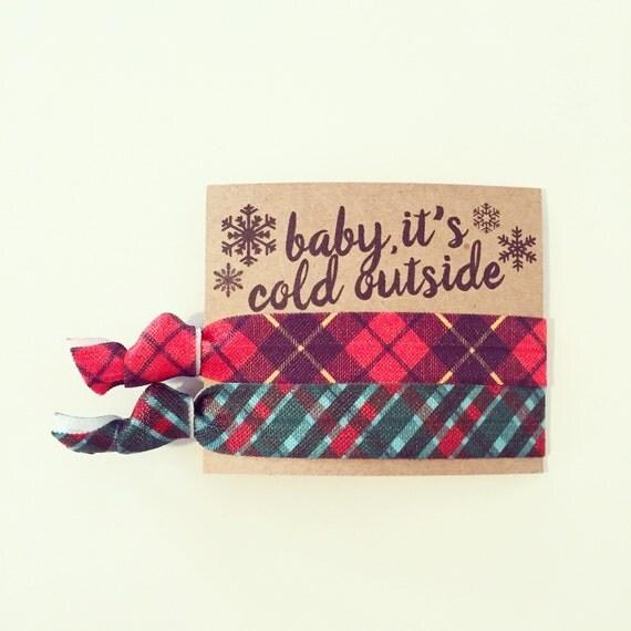 Plaid Bachelorette Hair Tie Favors | Winter Bachelorette Hair Tie Favors, Winter Wedding, Snow Fur Plaid Winter Cozy Bachelorette Favors
