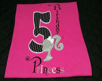 Barb birthday princess shirt