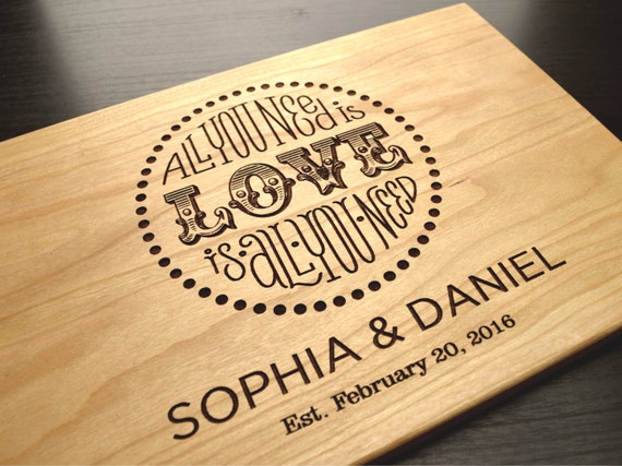 Personalized Wedding Gifts Kitchen : Board, Personalized Wedding Gift, Bridal Shower Gift, Anniversary Gift ...