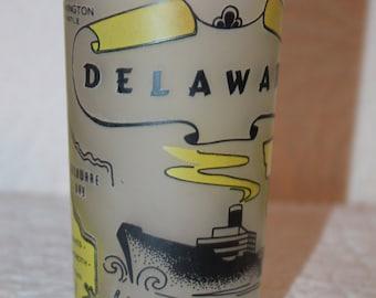 E2 Delaware Gay Fad Hazel Atlas Mark Frosted Glass Marked GF