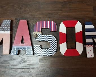 "8"" Paper Mache Nautical Custom Letters"