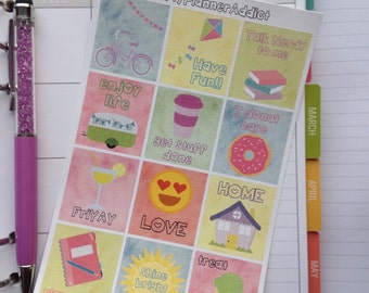 Fun Icon Stickers for Simple Stories Carpe Diem Planner
