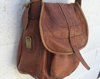 Leather Brown Messenger Shoulder Bag