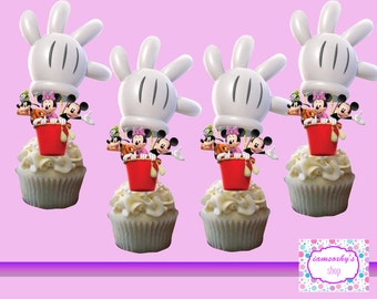 Mickey, Minnie and Goofy cupcake toppers,cakepop toppers