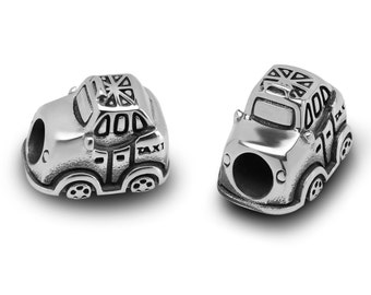 Stainless Steel London Taxi Bead / Taxi Charm European Bead For European Charm Bracelets #16-LTEB