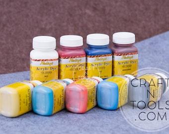 Acrylic Leather Dye Fiebing's 2oz/59ml in 11 colors/Leather Coloring/Finishing Leather/Leather Paint/Water Resistant Dye/Dye for Leather