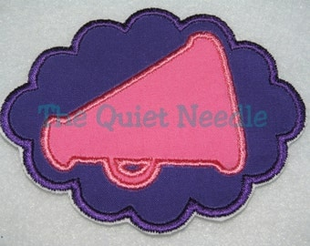Embroidered Megaphone Cheerleading Applique IronOn or Sewable Patch * Cheerleader Applique * Cheer * Cheersquad Applique * Customize