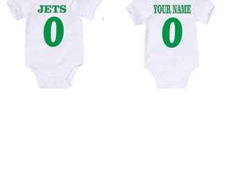 Custom Jets Onesies / T shirts with custom name and number