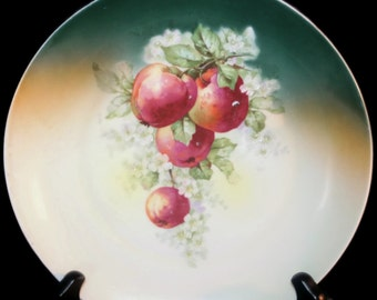 Vintage Hand Painted Apple Plate, Collectible Plate