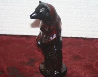 Vintage Avon Kodiak Bear Decanter Bottle, Vintage Avon