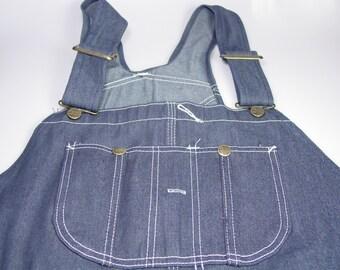 New Vintage Denim Bib Overalls 46x32 Sears Roebuck Tuff Carpenter pants dungarees farmer rockabilly hipster grunge clothing deadstock